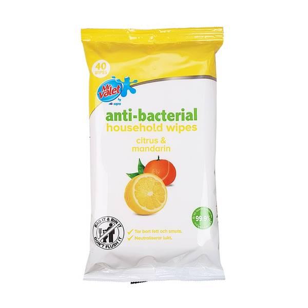Bilde av Antibacterial Wipes - Citrus & Mandarin