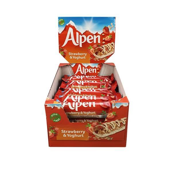 Bilde av Alpen Strawberry & Yoghurt (Kartong 24stk)